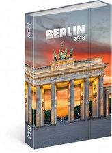 Diář 2018 - Berlín, týdenní magnetický, 10,5 x 15,8 cm