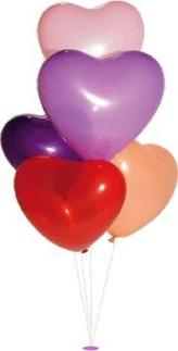 Balónky srdíčka různobarevné