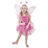 Kostým víla pink - šaty (neobsahuje křídla)