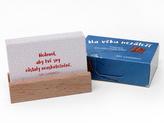 Na věku nezáleží - karty s dřevěným stojánkem