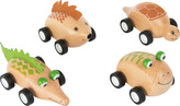 Dřevěné zvířátkové autíčko 1ks  Želva