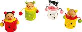 Dřevěné hračky -  Krabička na mléčné zoubky zvířátka Kočka