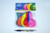 """Balonek nafukovací 11"""" 12cm 10ks v sáčku karneval"""