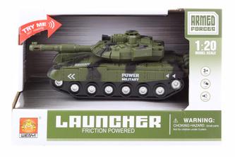 Tank zelený na baterie