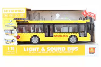 Školní autobus žlutý na baterie