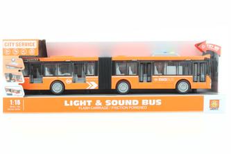 Autobus kloubový oranžový na baterie