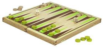 Jeujura Backgammon hra v dřevěném skládacím boxu