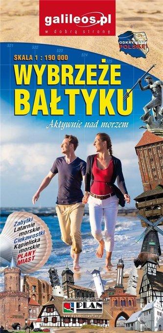 Mapa turystyczna - Wybrzeże Bałtyku 1:190 000