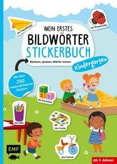 Mein erstes Bildwörter-Stickerbuch - Kindergarten