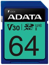 ADATA Premier Pro 64GB SDXC/ UHS-I U3 V30S CL10