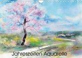 Jahreszeiten Aquarelle (Wandkalender 2022 DIN A4 quer)