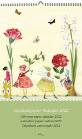 Blumentopf Geschenkpapier-Kalender 2022