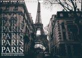 Paris - in schwarz und weiss (Wandkalender 2022 DIN A4 quer)