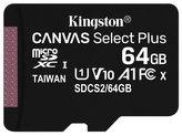 KINGSTON Canvas Select Plus 64GB microSD / UHS-I / CL10 / bez adaptéru