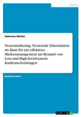 Neuromarketing. Neuronale Erkenntnisse als Basis für ein effektives Markenmanagement am Beispiel von Low-und High-Involvement Ka