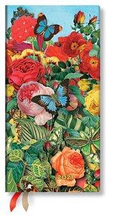 Paperblanks 2021 Butterfly Garden Slim 12-Month