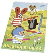 Kreslící blok KRTEK A4, čistý, 20 listů