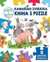 Kamarádi zvířátka kniha s puzzle Přátelé z farmy