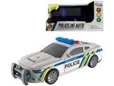 Policejní auto  na setrvačník, 17 cm, světlo, zvuk (čeština), na baterie