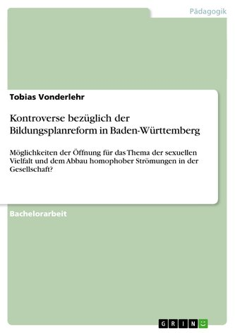 Kontroverse bezüglich der Bildungsplanreform in Baden-Württemberg