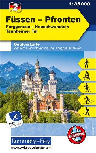 Füssen - Pfronten Nr. 02 Outdoorkarte Deutschland 1:35 000