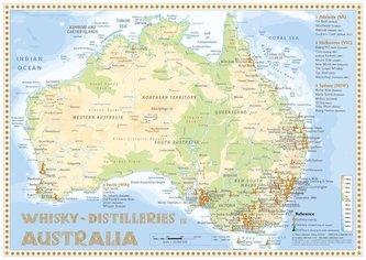 Whisky Distilleries Australia - Tasting Map 1: 2 000 0000