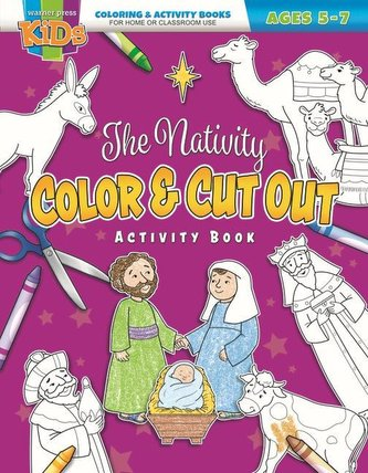 The Nativity Color & Cut Out: Coloring Activity Books ] Christmas--5-7