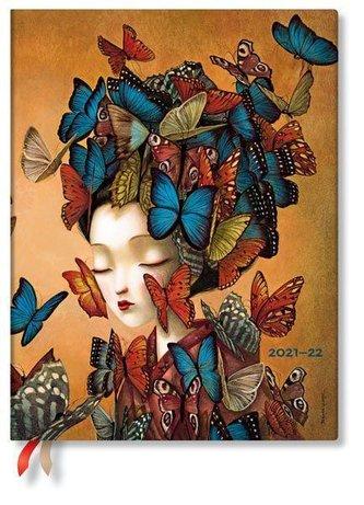 Madame Butterfly 18-Monatskalender Flexi 2022 Ultra Vertikal