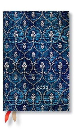 Samtblau 12-Monatskalender 2022 Mini Horizontal