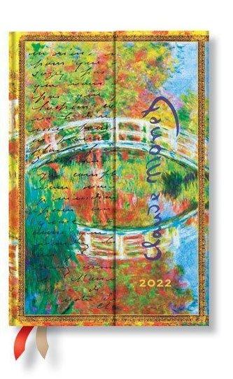 Monet (Die Brücke), Brief an Morisot 12-Monatskalender 2022 Mini Verso