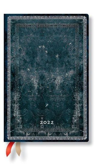 Mitternachtsstahl 12-Monatskalender 2022 Mini Horizontal