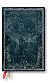 Mitternachtsstahl 12-Monatskalender 2022 Mini Verso