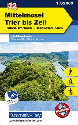 Mittelmosel - Trier bis Zell 1 : 35.000 Outdoorkarte 22