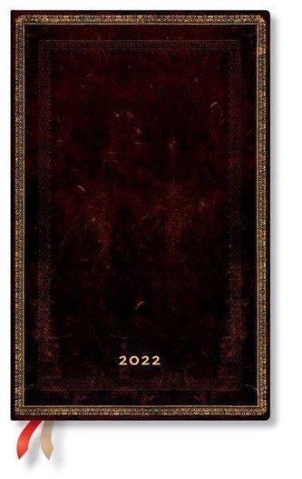 Schwarzes Marokkoleder 12-Monatskalender 2022 Maxi Horizontal