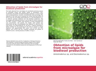 Obtention of lipids from microalgae for biodiesel production