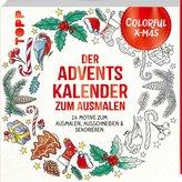 Colorful Christmas - Der Adventskalender zum Ausmalen