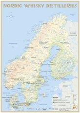 Nordic Whisky Distilleries - Tasting Map 1: 7 000 000