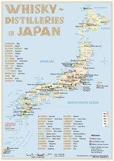Whisky Distilleries Japan - Tasting Map 1:8 000 000