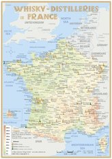 Whisky Distilleries France and BeNeLux - Tasting Map 1:3 500 000