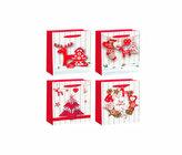 Dárková taška - Vánoční Nordic /32x42x12 (mix)