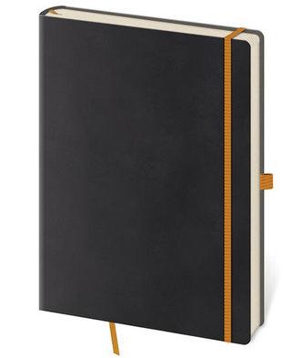 Zápisník Flexies Black - L tečkovaný