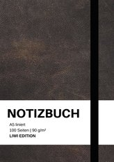 Notizbuch A5 liniert - 100 Seiten 90g/m² - Soft Cover schwarz - FSC Papier