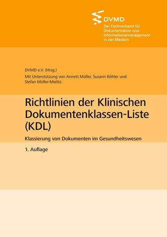 Richtlinien der Klinischen Dokumentenklassen-Liste (KDL)