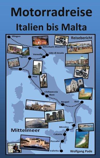 Motorradreise Italien bis Malta