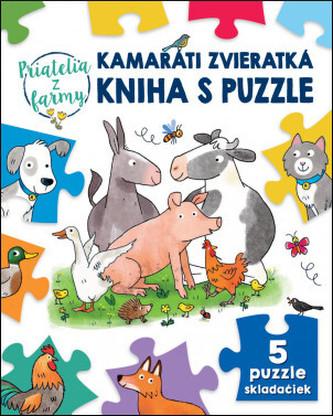 Kamaráti zvieratká kniha s puzzle Priate