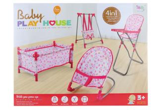 Sada židliček pro panenku