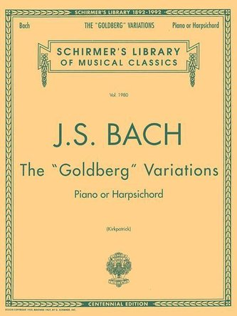 Bach: Goldberg Variations: Schirmer Library of Classics Volume 1980 Piano Solo