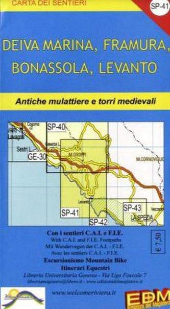 EDM Wanderkarte Deiva Marina, Framura, Bonassola, Levanto