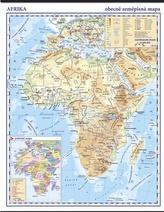 Afrika fyzická nástěnná mapa