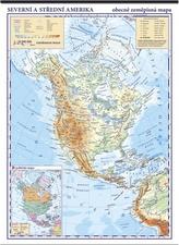 Severní Amerika fyzická mapa